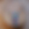 Ras de cou et pendentif en polymère - bleu, violet & or