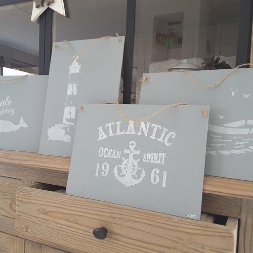 """Plaque murale thème océan """"atlantique """""""