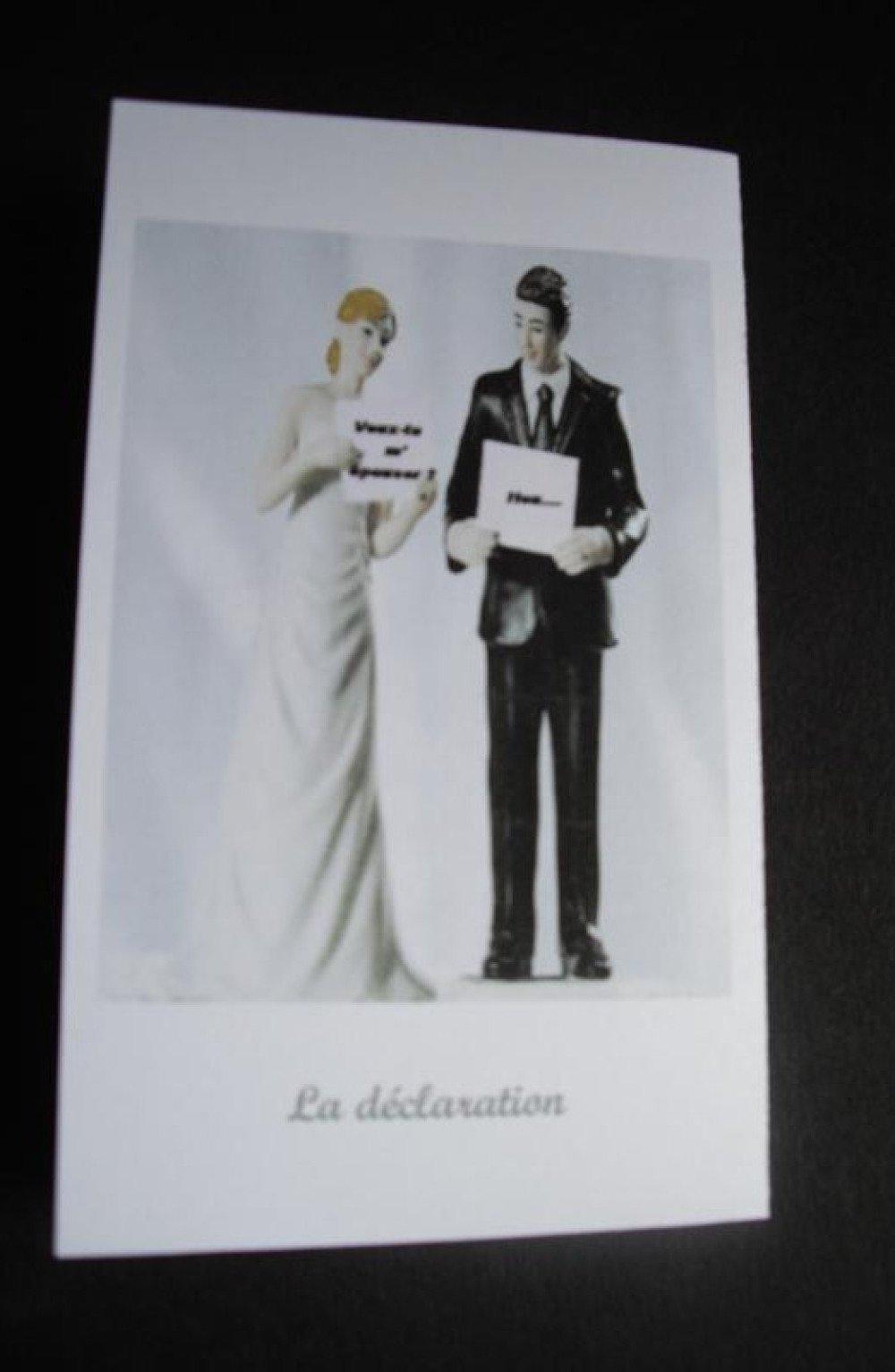 Faire-part mariage humoristique
