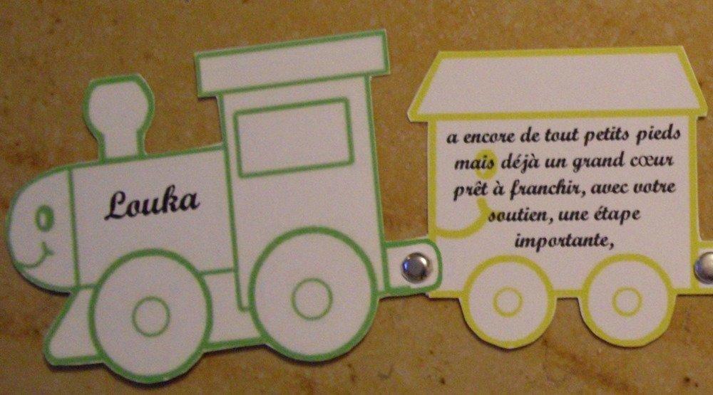 Faire-part train