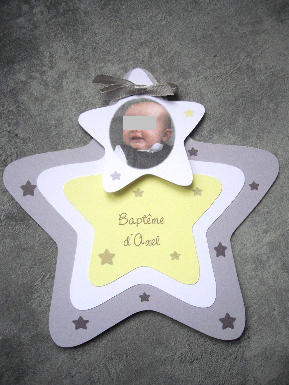 Faire-part étoile arrondie