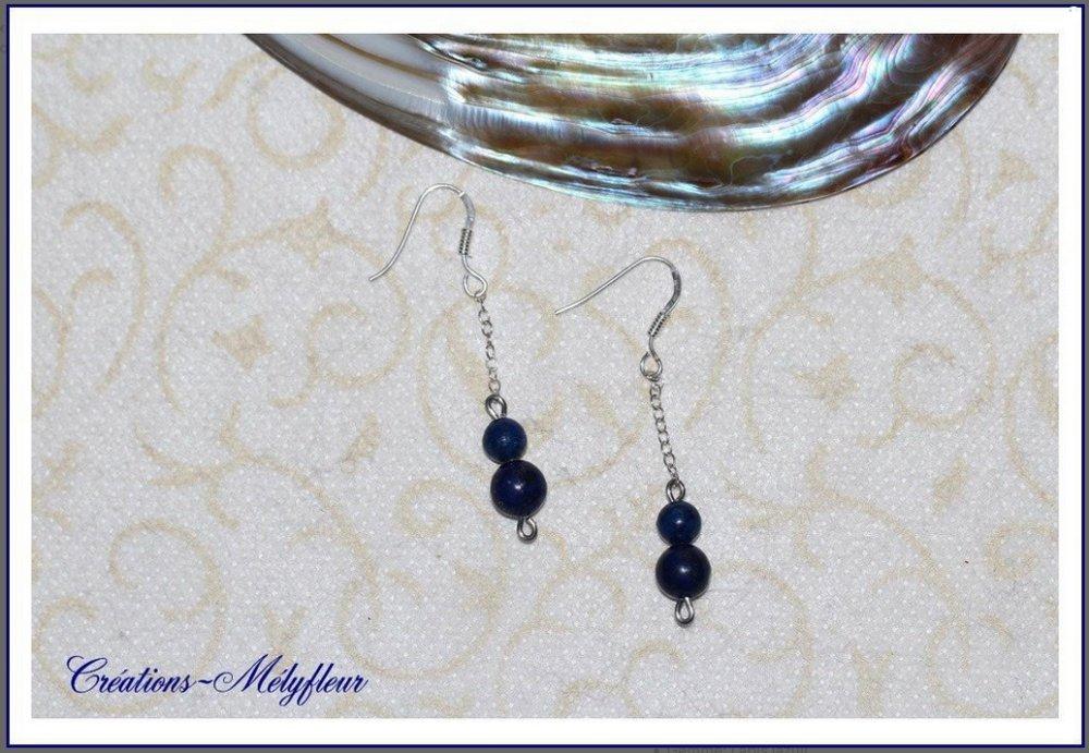 Boucles en lapis lazuli