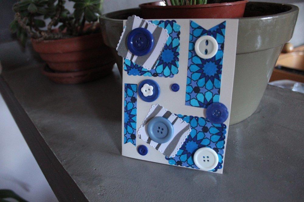 N/P 1148 - Carte thème couture/ boutons pour toutes occasions