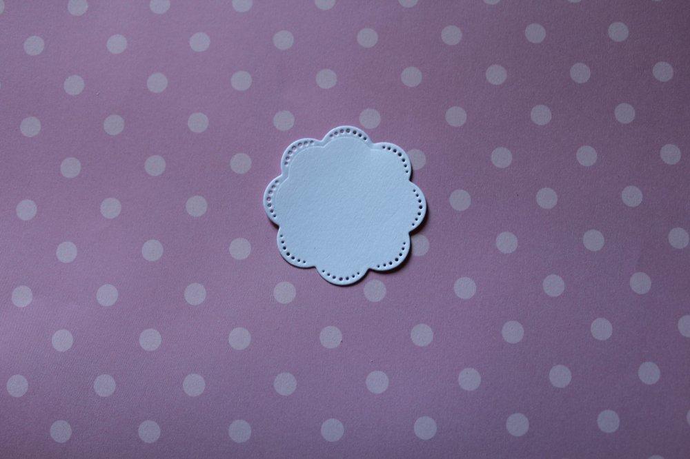 414 -Forme- Découpe papier taille à choisir à l'unité - coloris blanc