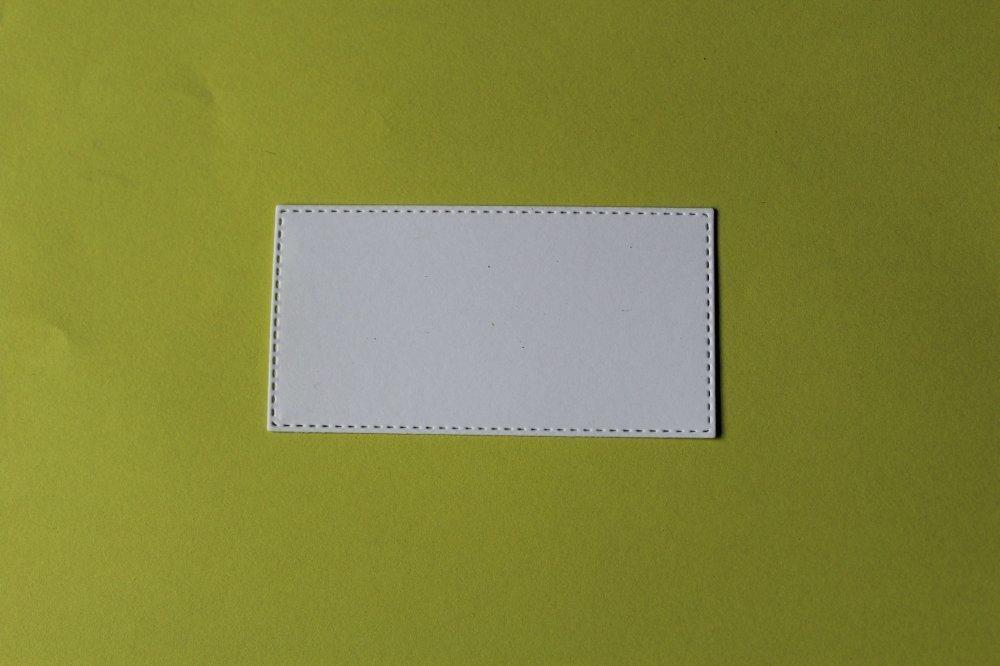 313 -Forme- Découpe papier rectangle  à l'unité taille à choisir - coloris blanc