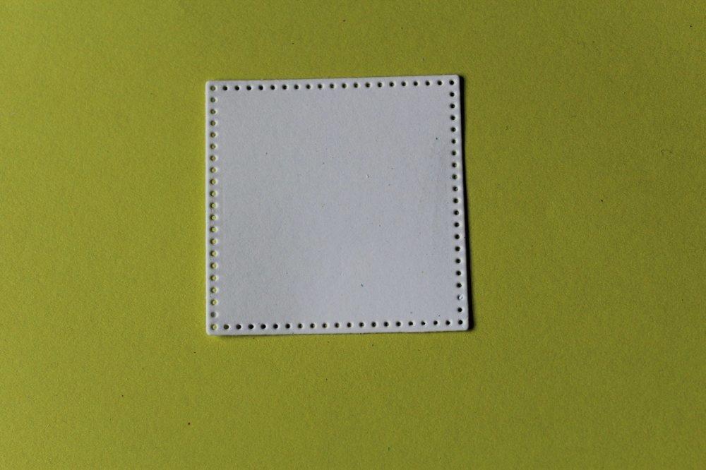 311 -Forme-Découpe papier carré à l'unité taille à choisir - coloris blanc