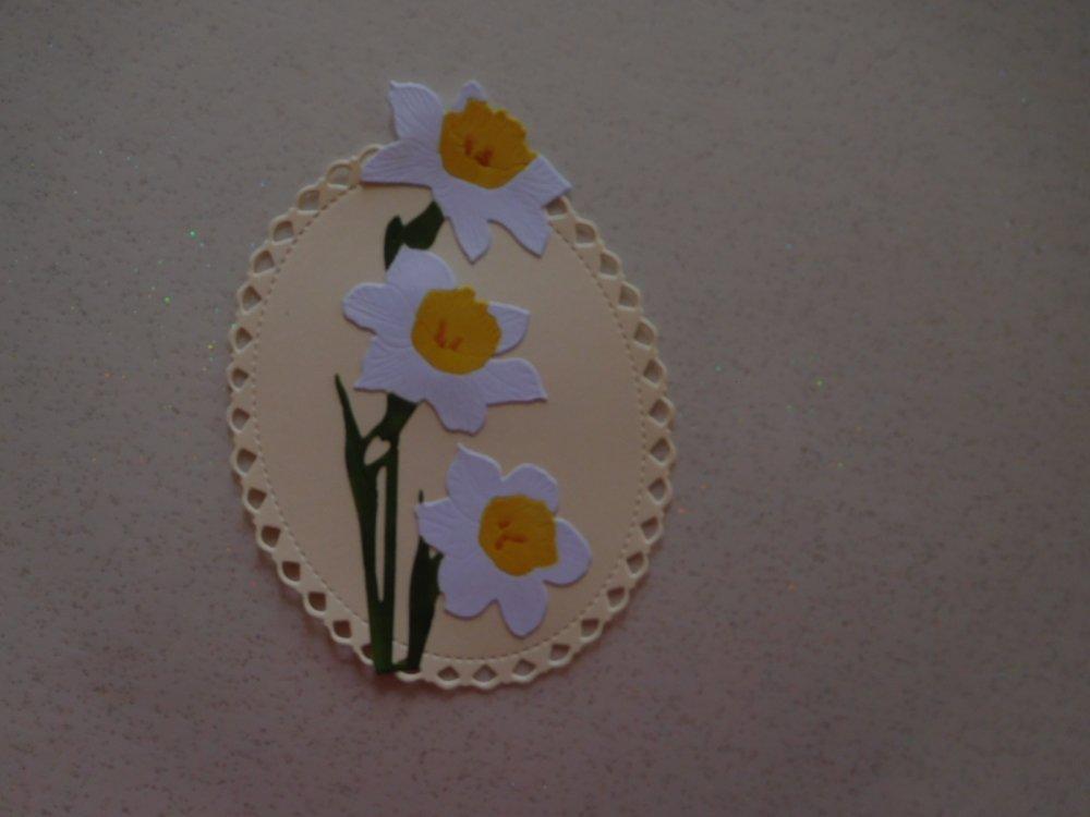 N/P 594 - Découpe papier embellissement jonquille pour scrapbooking, décoration