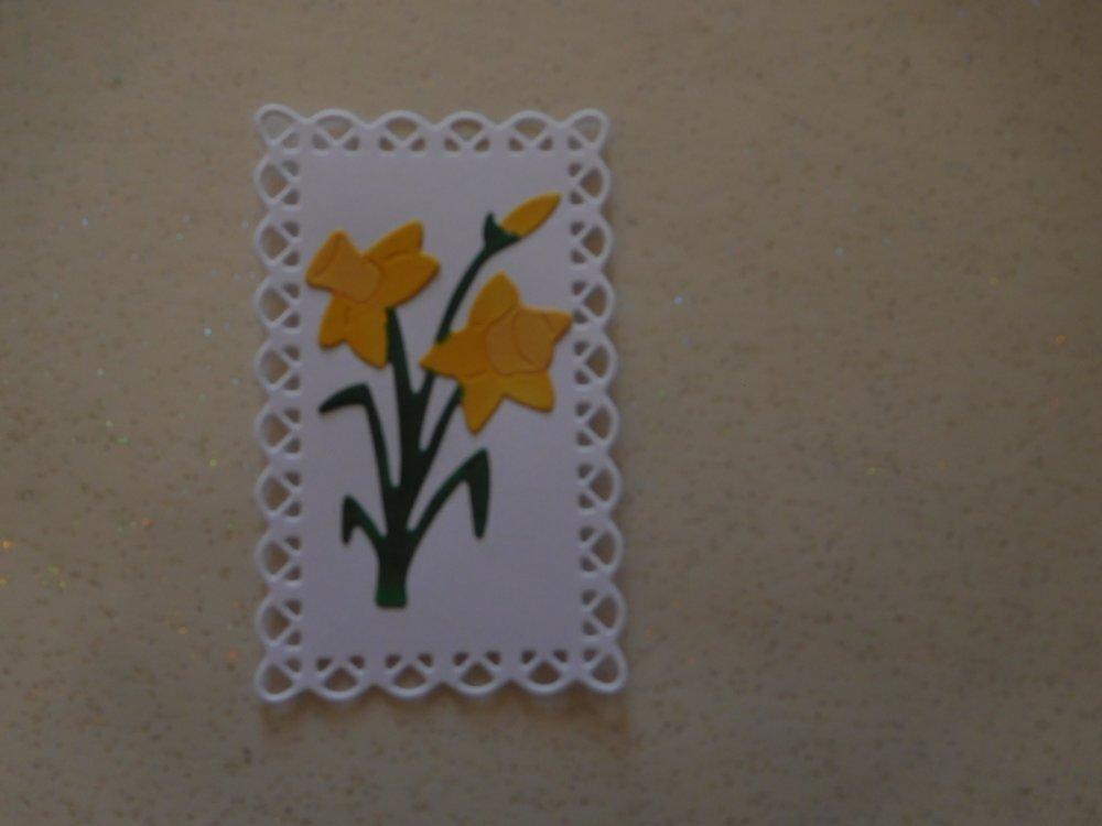 N/P 2100 - Découpe papier embellissement jonquille pour scrapbooking, décoration