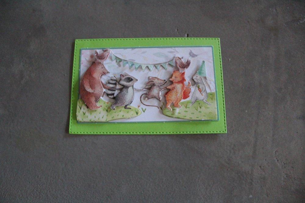 1399 : Embellissement thème animaux, fête, anniversaire, enfant pour scrapbooking, décoration
