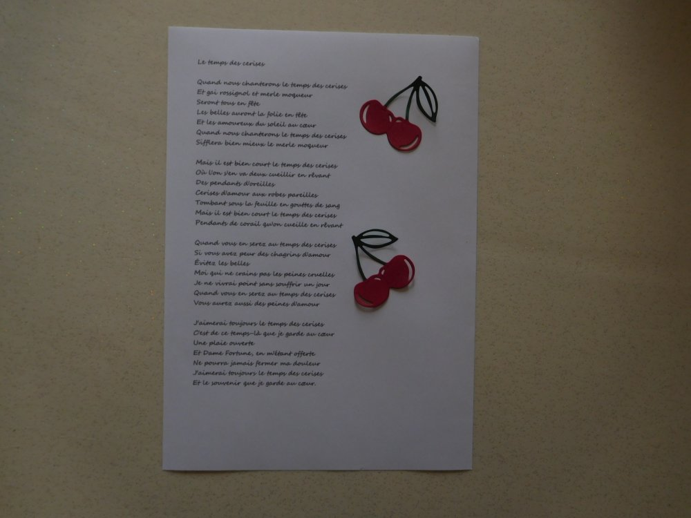 N/P 1480 - Découpe papier embellissement cerises pour scrapbooking, décoration