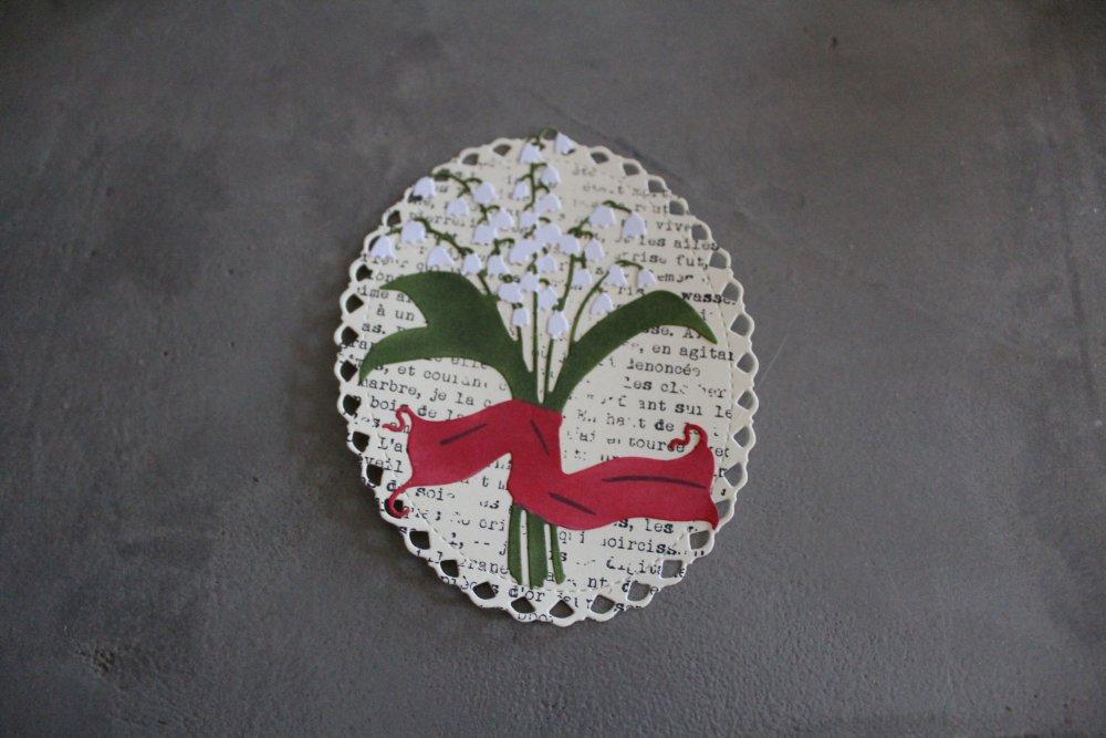 1799 - Découpe papier - embellissement muguet pour scrapbooking, décoration