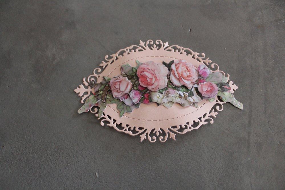 1830 : Embellissement thème fleurs 3D pour scrapbooking, décoration