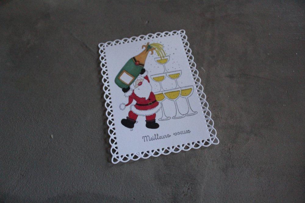 N/P 2294 - NOEL - Embellissement thème noël hiver meilleurs voeux pour scrapbooking