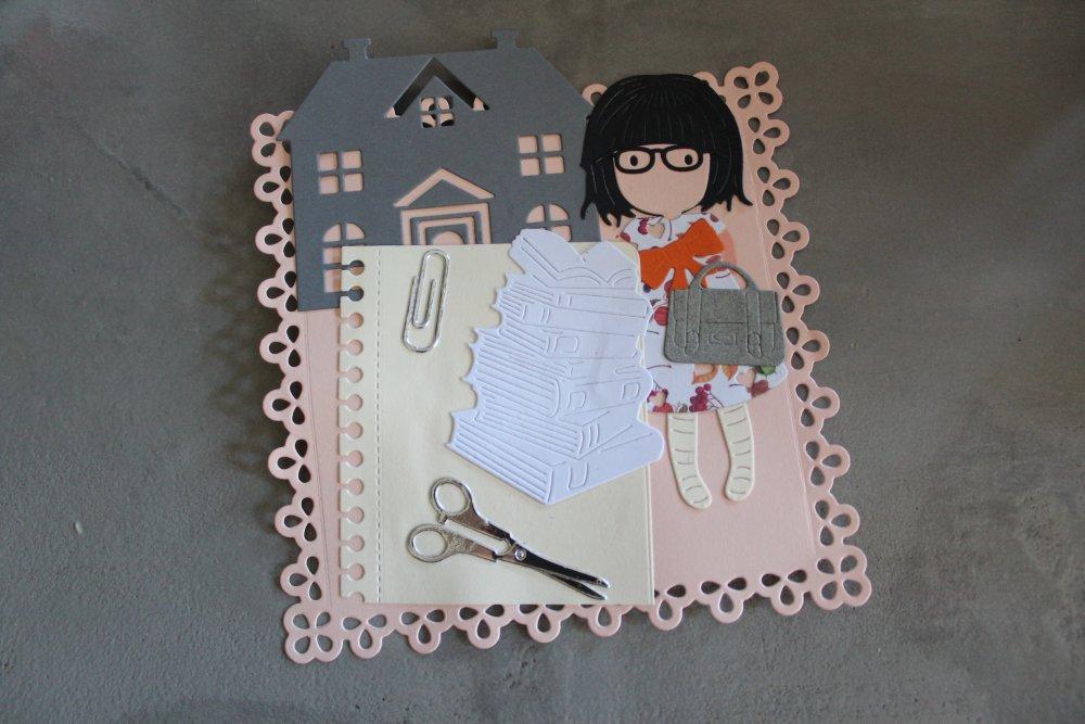 N/P 309 - Embellissement thème personnage fille - enfance - école
