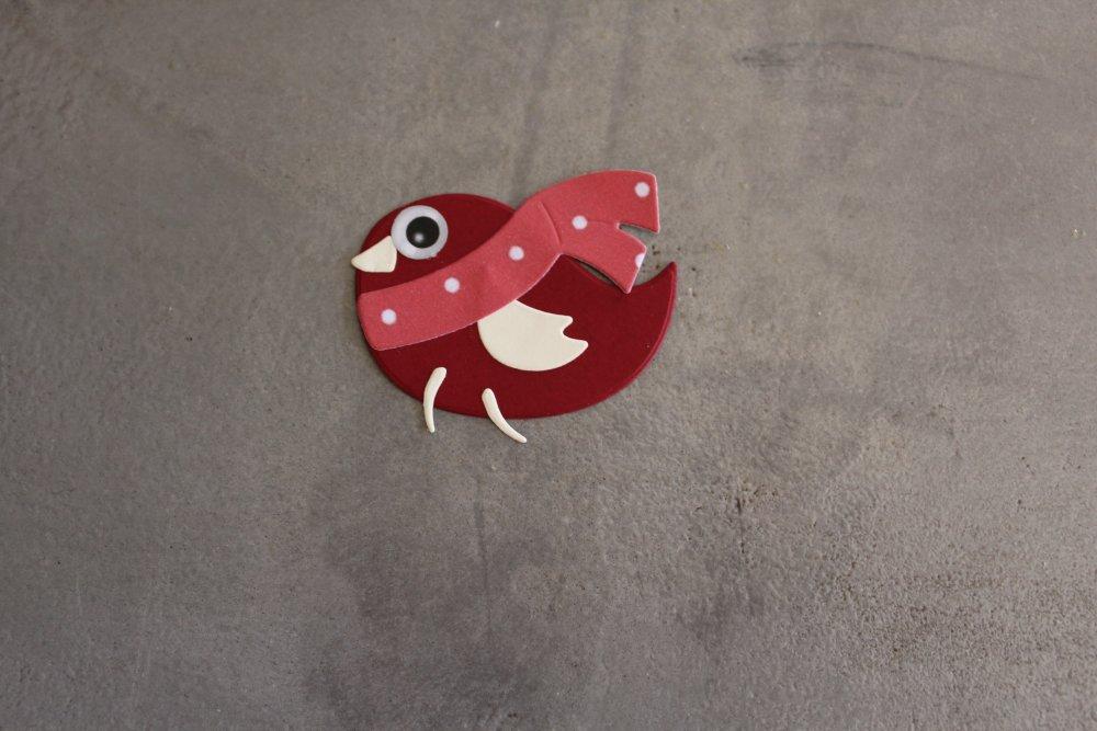 N/P 686 -  Découpe papier animaux oiseau fait main