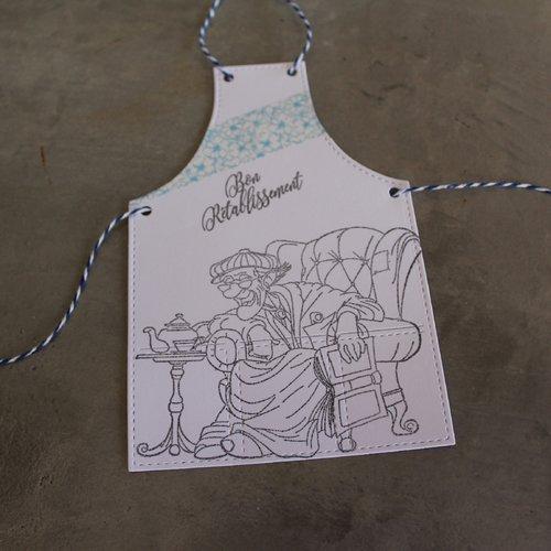 N/p 1391- découpe papier tablier de cuisine embellissement /scrapbooking thème grand-père / rétablissement