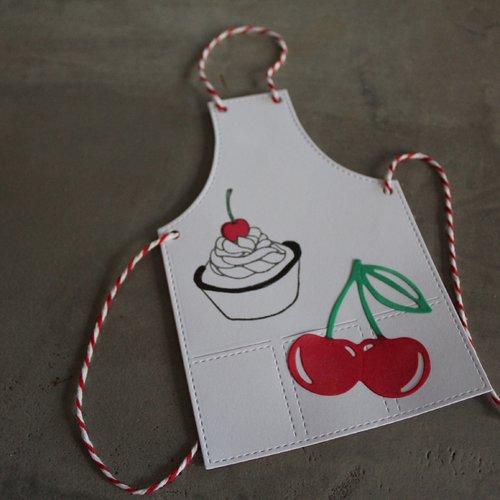 N/p 1320 -découpe papier tablier de cuisine / embellissement / scrapbooking / invitation