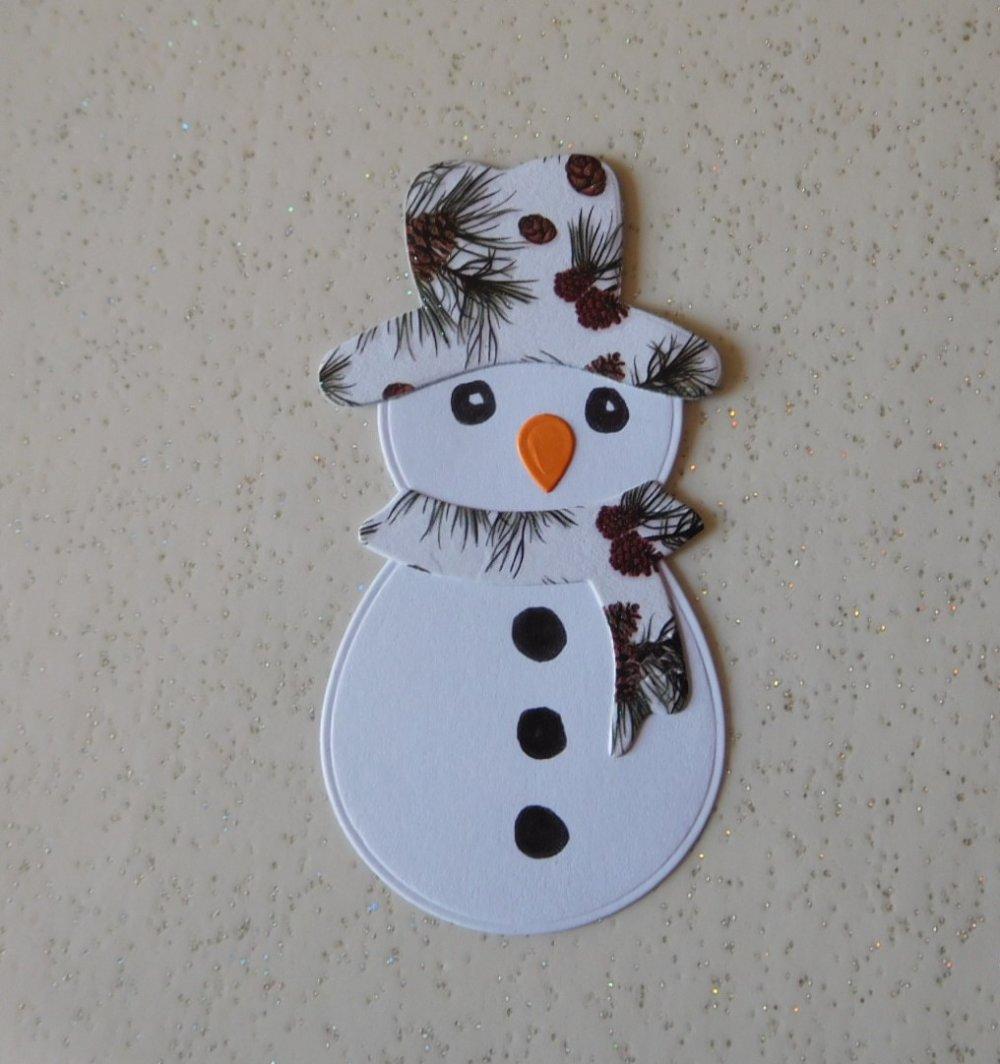 N/P 1436 NOEL/HIVER découpe papier bonhomme de neige