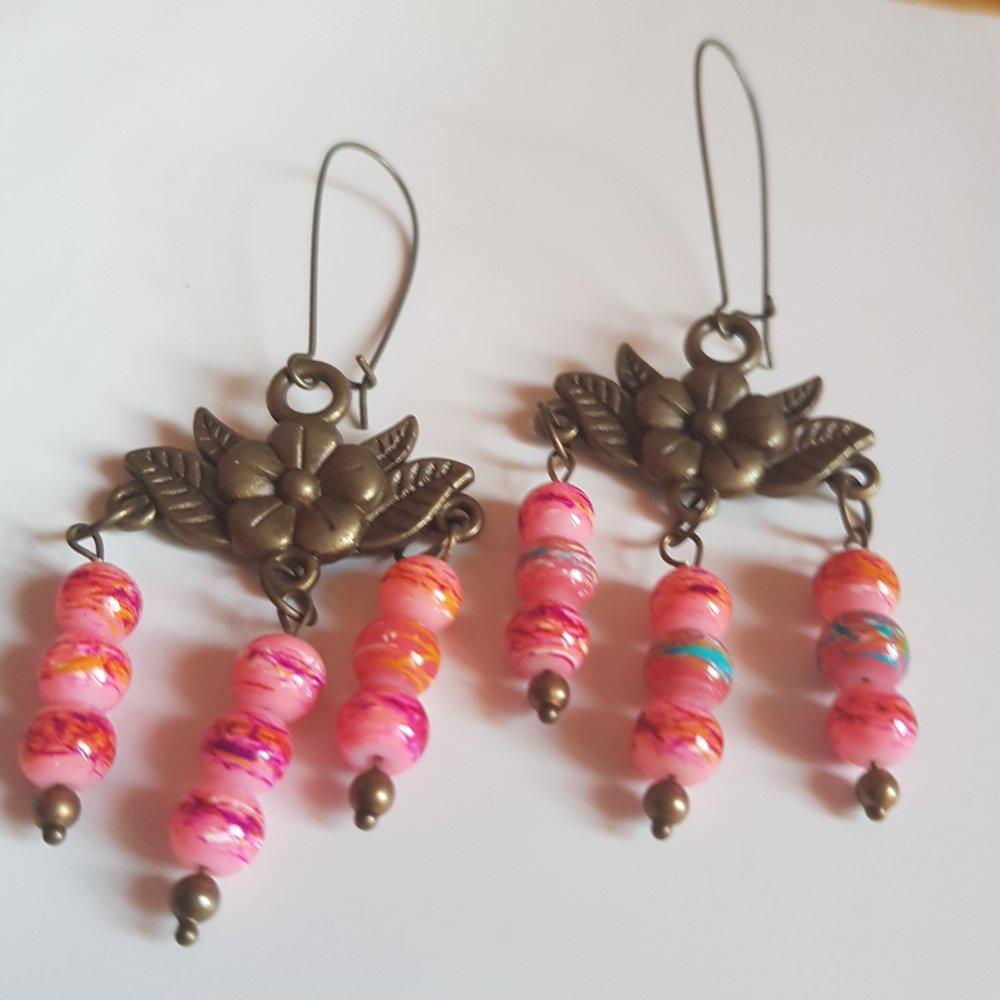 Boucles d'oreilles perles fiesta
