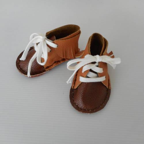 bottines bébé marron franges