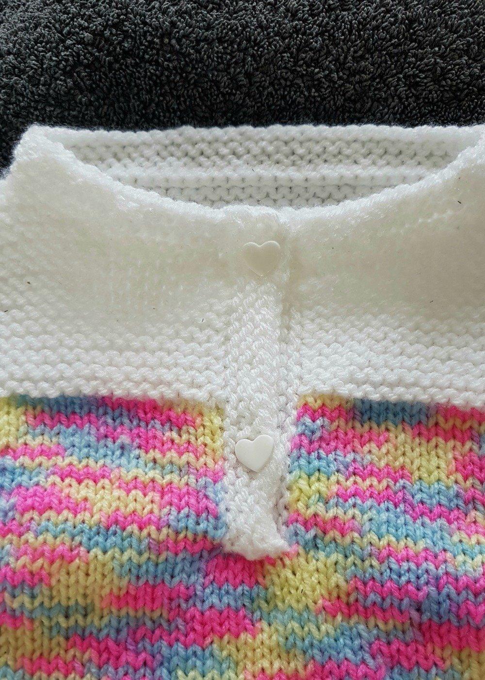 Robe demi manche acrylique en taille : 12 mois