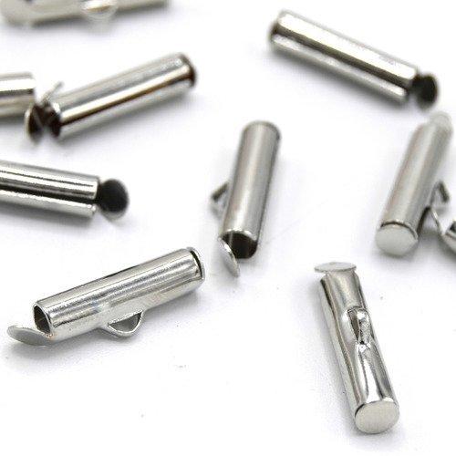 PAX 200 EMBOUTS tube ressorts pour cordon 2//2.5mm Argent VIF S1112851
