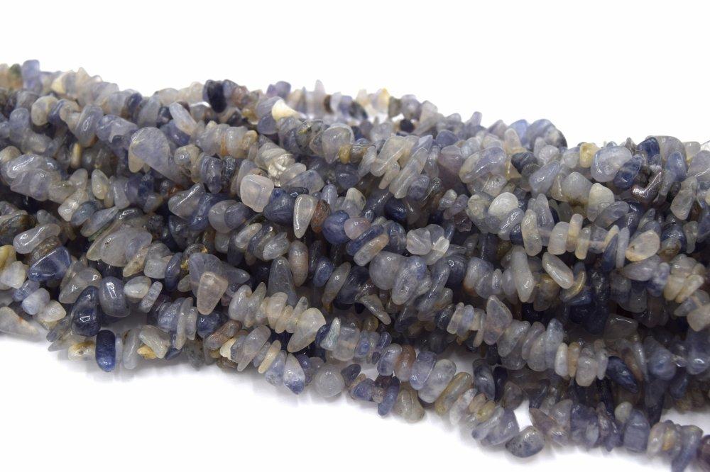 x50 Perles iolites chips pierre de gemmes chips -
