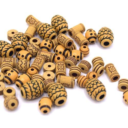 40 perles mixte acrylique antique formes variées