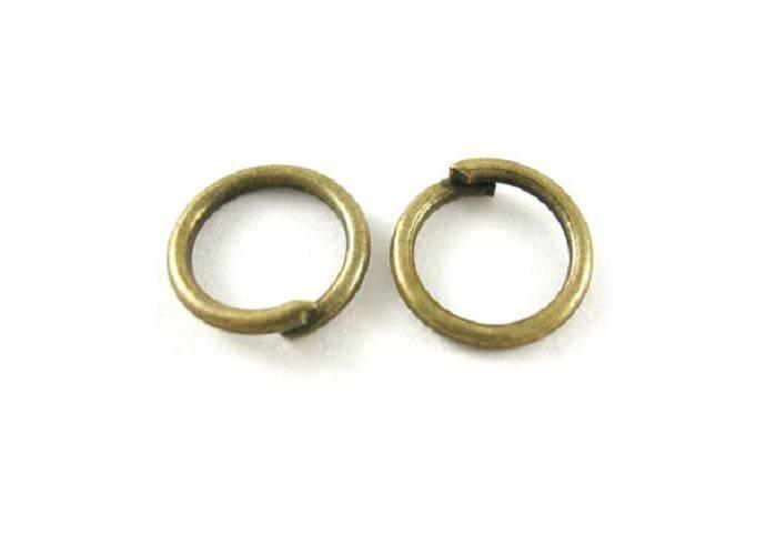 100 Anneaux de Jonction bronze 6mm ep. 0.7 AB201603