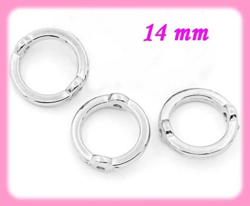 -75% sur votre commande. 100 perles acrylique cadre rond 14 mm pour perles 10 mm