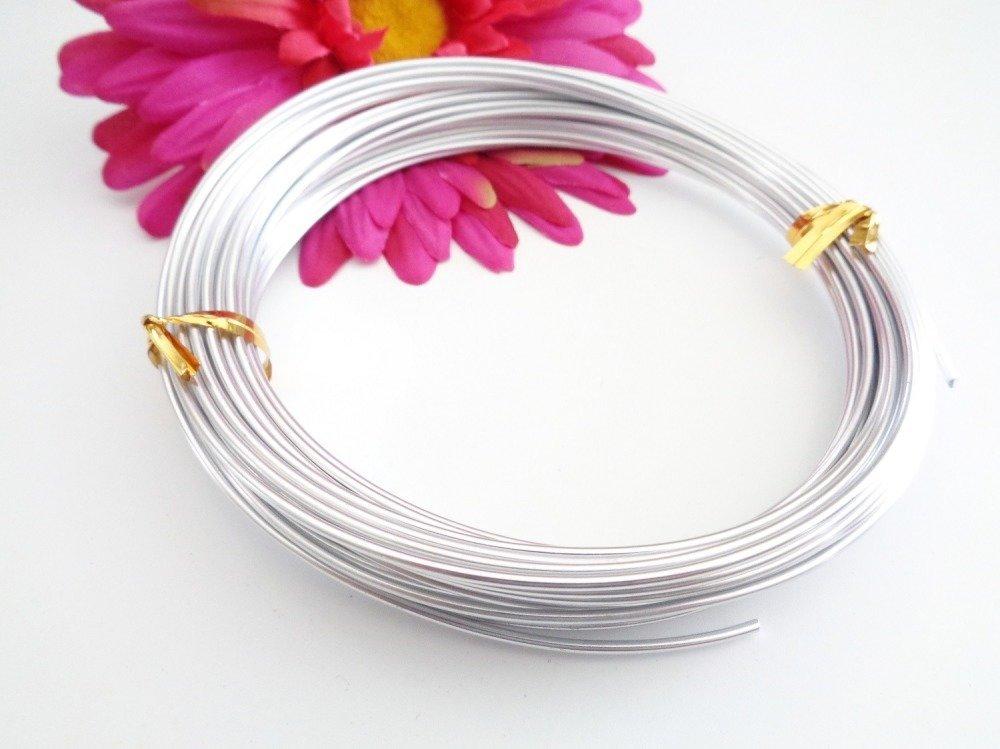 -75% sur votre commande. 40 M de fil aluminium 1.5 mm couleur argent lisse