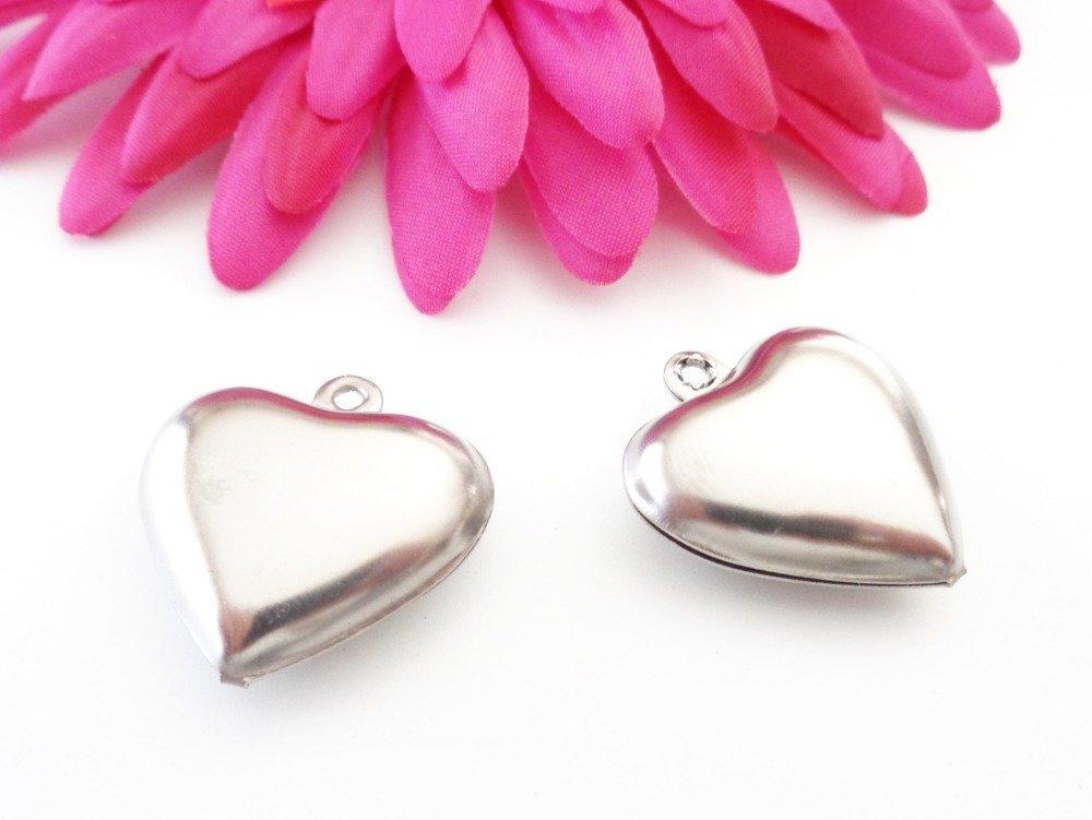 -75% sur votre commande. 10 pendentifs gros coeur en acier inoxydable 26 x 25 mm
