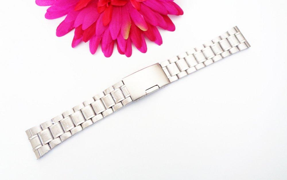 -75% sur votre commande. Lot de 2 Bracelets de montre en acier inoxydable 185x20mm