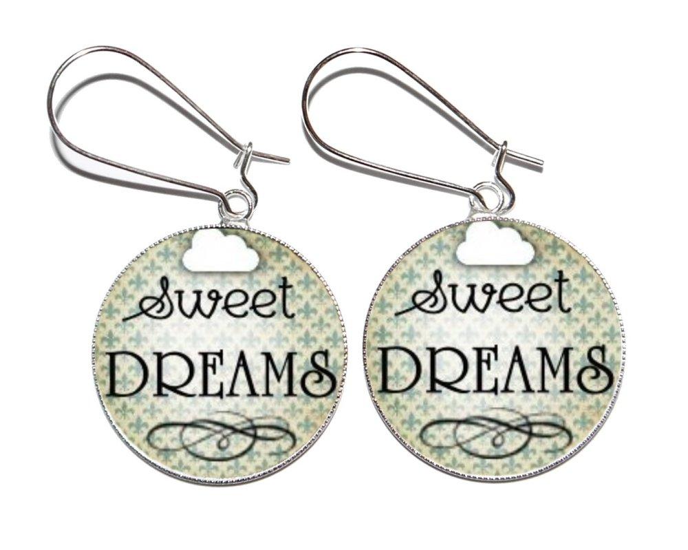 Bague argentée avec cabochon en résine * Sweet DREAMS *