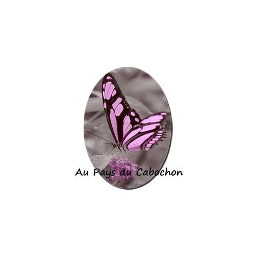 Cabochon image en verre 18x25mm