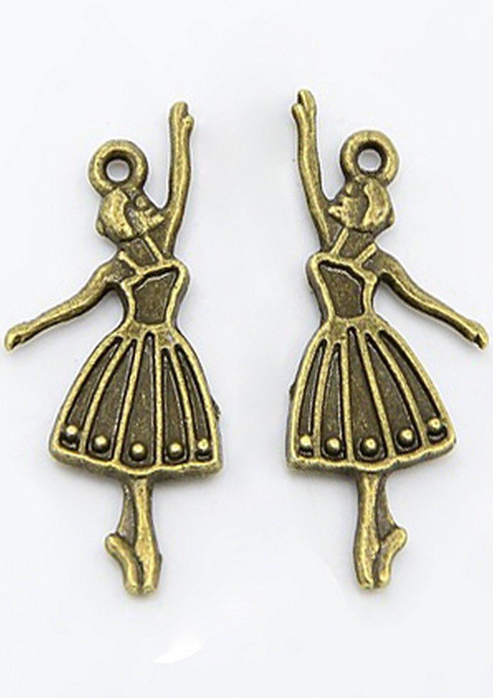 Lot de 2 breloques bronze  (BR040)