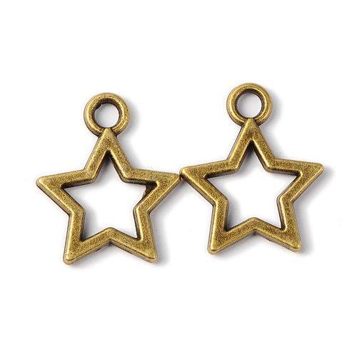 Lot de 10 breloques bronze  (br031)