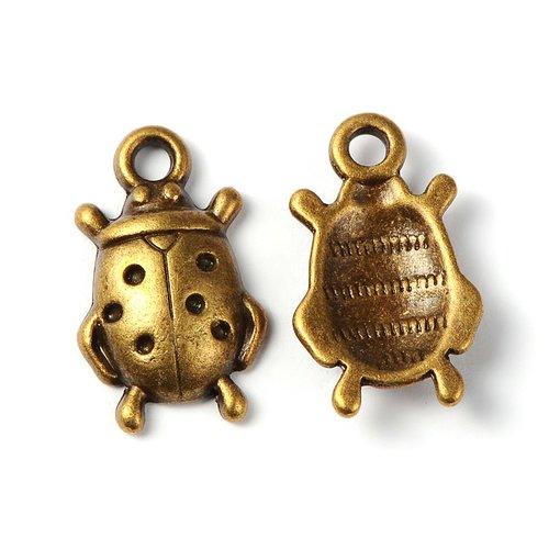 Lot de 10 breloques bronze  (br025)