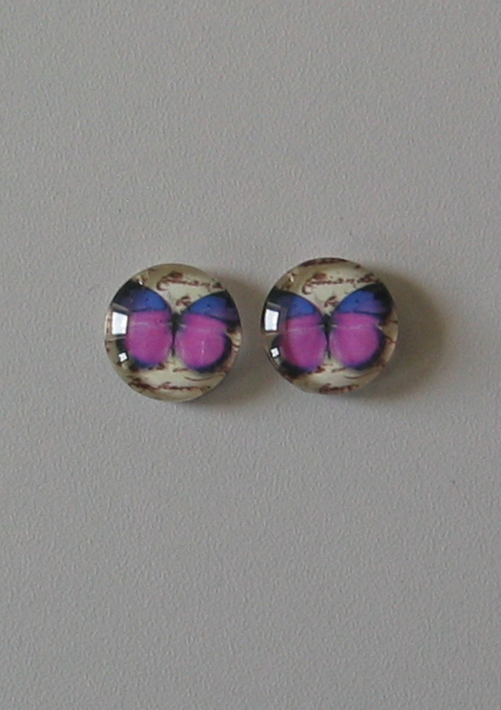 Lot de 2 cabochons verre image 14mm