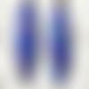 """Boucles d'oreilles  multicolores avec motifs floraux: en relief : """"alambra"""" - bleu"""