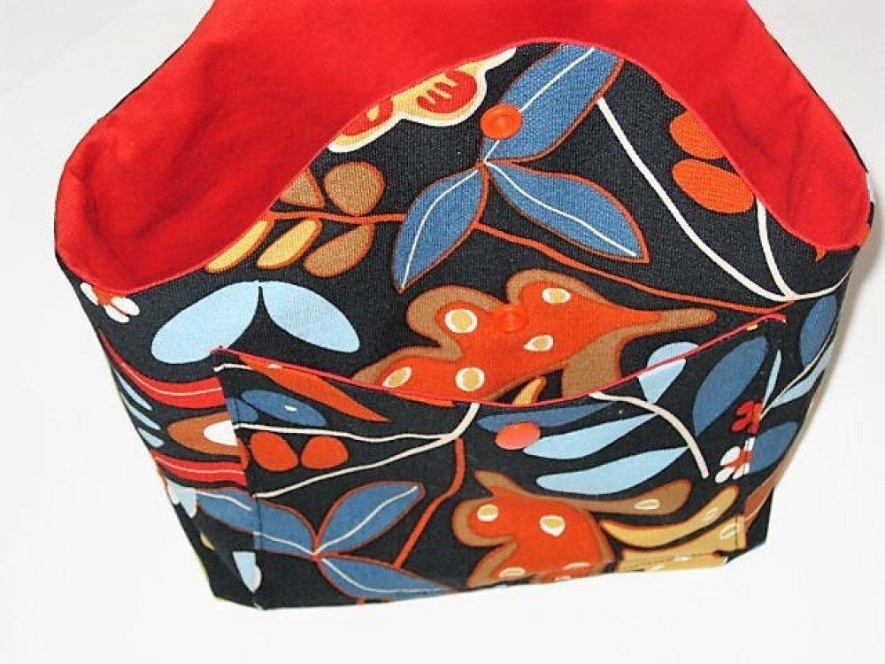 Sac forme Panier , sac à projet motif champêtre