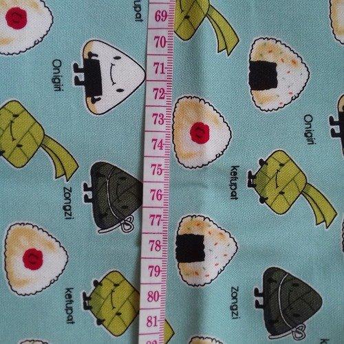 Tissu Japonais Nourriture Japonnaise Kawaii Un Grand Marché