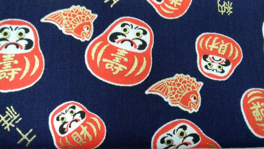 Daruma tissu japonais daruma et furoshiki