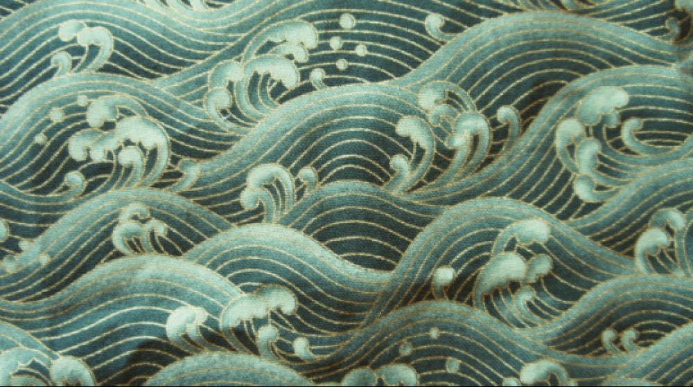 tissu japonais vagues