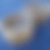 2 paniers écrus au crochet 18 et 15 cm