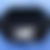 Panier carré noir au crochet 22 cm