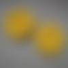 2 fleurs jaune maïs 3.5 - 4 cm
