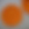 2 mini-napperons/sous-verres orange au crochet