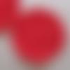 2 mini-napperons/sous-verres rouges au crochet