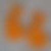 2 lapins orange 6 cm